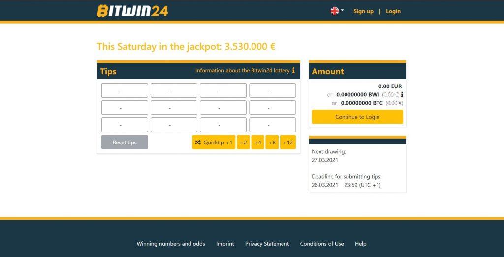 Bitwin24 lottó